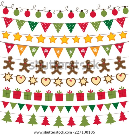 Christmas decoration vector set - stock vector