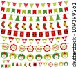 Christmas decoration vector set. Used pattern brushes included. - stock photo
