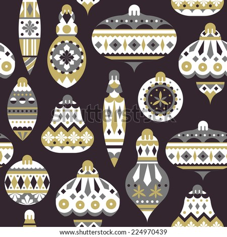 Christmas Decorations Background - stock vector