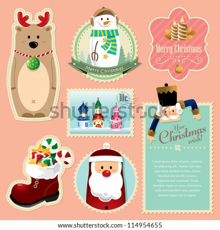 Christmas decorations element 2 - stock vector