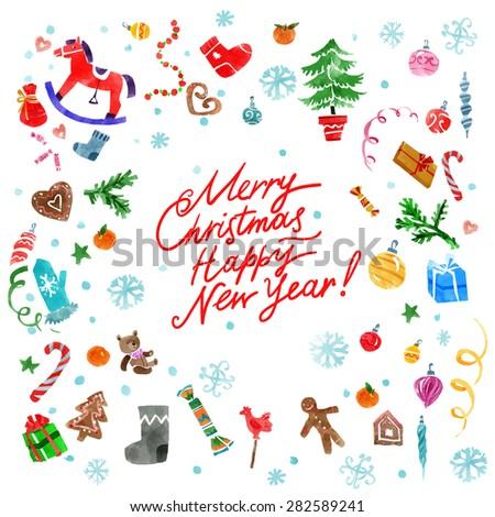 Circle Christmas Ornament Decorative Items Black Stock
