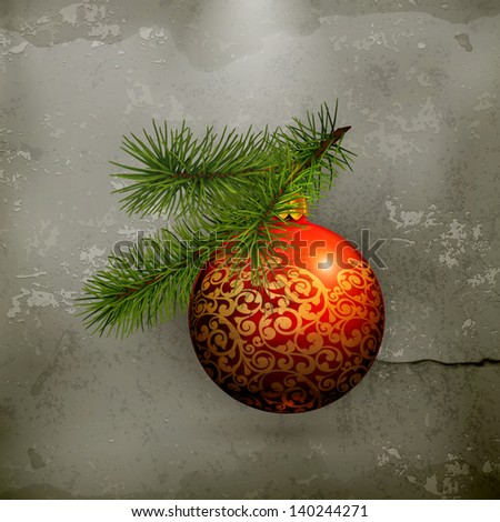 Christmas decorations, old style vector - stock vector