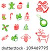 Christmas Decorations Set - stock vector