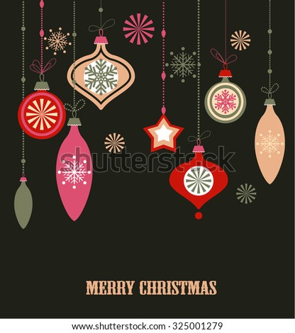 Christmas decorations. Vector set of snowflakes. New Year background - stock vector
