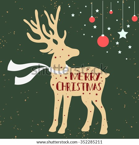 Christmas Deer Stock Images, Royalty-Free Images & Vectors ...