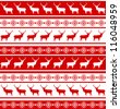 Christmas deer tempate card. And also includes EPS 8 vector - stock