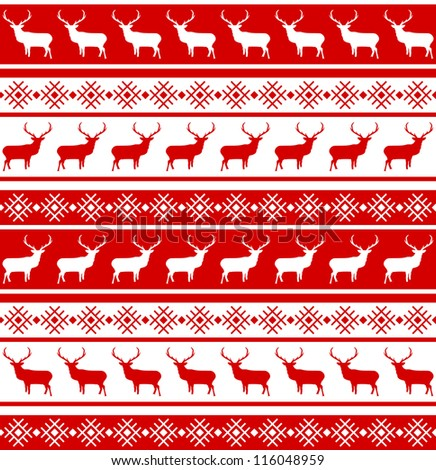 Christmas deer tempate card. And also includes EPS 8 vector - stock vector
