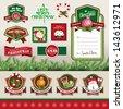 Christmas design & decorations elements - stock vector
