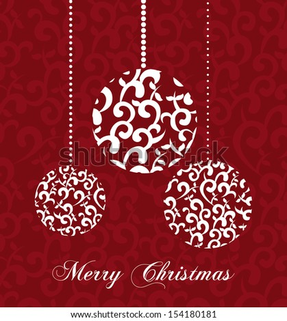 christmas design over red background vector illustration