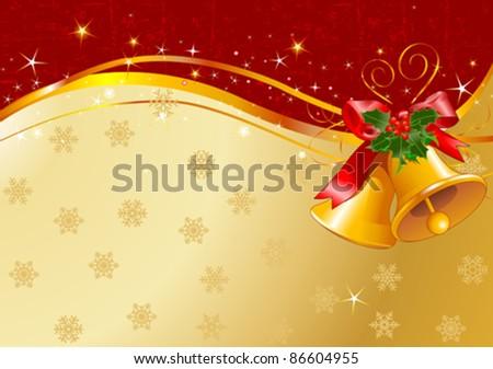 Christmas design with Christmas bells - stock vector