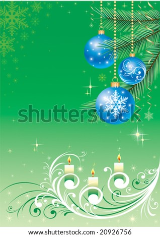 christmas design with Christmas-tree decorations