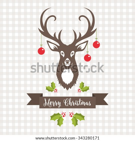 Christmas Design with  Reindeer