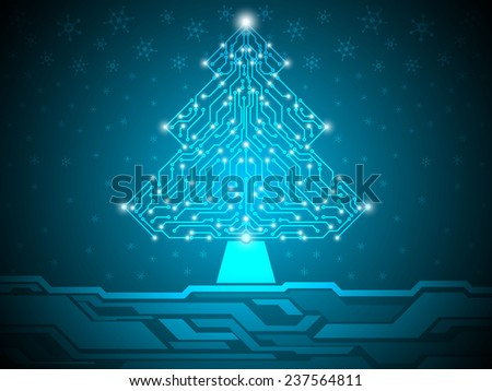 christmas digital abstract technology background