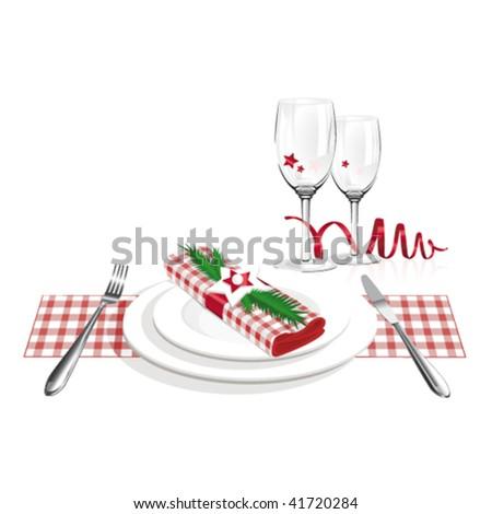 Christmas dinner - stock vector
