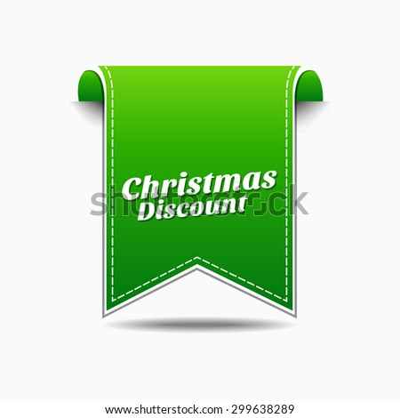 Christmas Discount Green Vector Icon Design