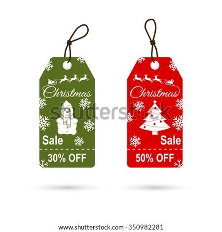 Christmas discounts. Vector - stock vector