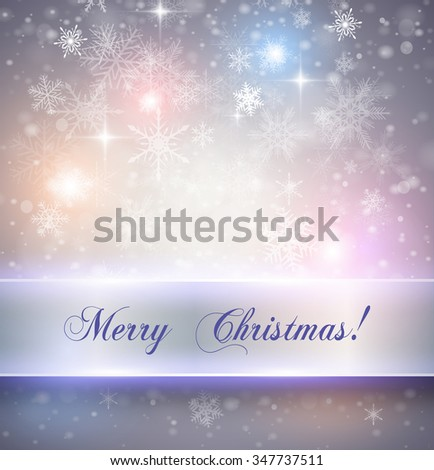 Christmas elegant background with snowflakes, vector illustration - stock vector