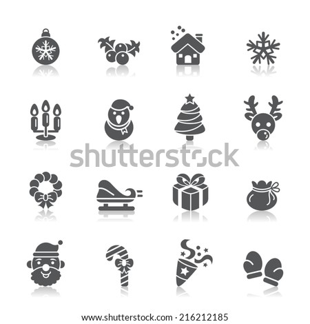 Christmas Element Icons - stock vector
