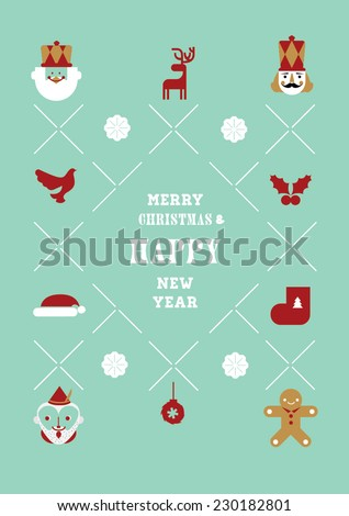 Christmas elements and illustrations - stock vector