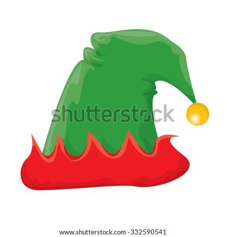christmas elf hat. vector illustration - stock vector