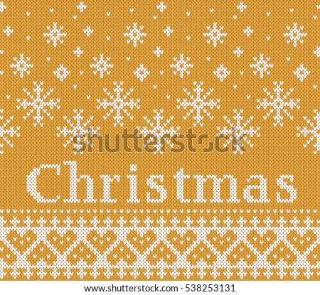 Christmas Fairisle Design Knitting Pattern Stock Vector 521328091 ...