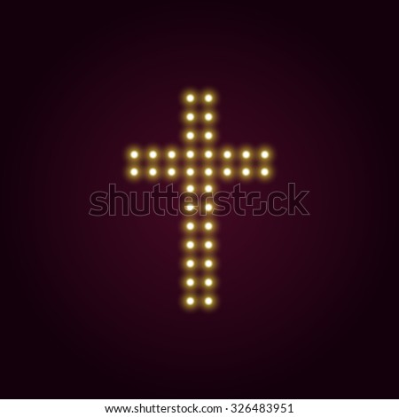 Christmas Fairy Light Cross