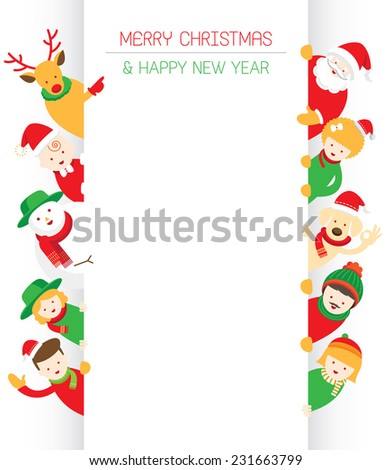 Christmas, Family, People with Copy Space - stock vector