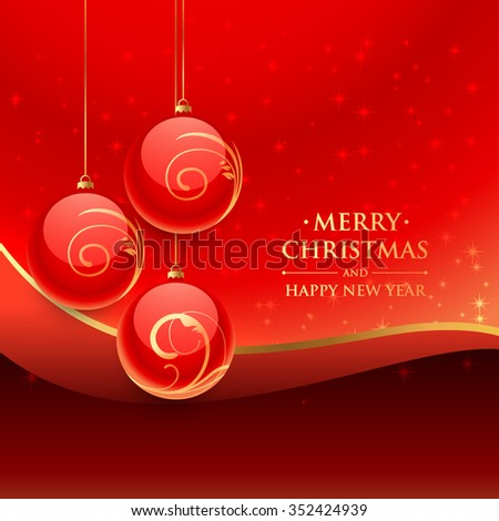christmas festival balls - stock vector