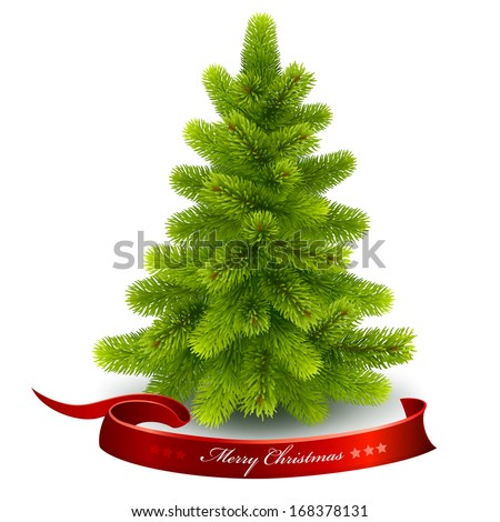 Christmas fir tree. Vector eps 10. - stock vector