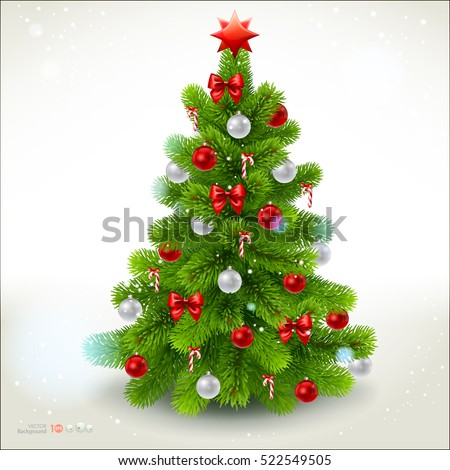 Christmas fir tree. Vector eps 10.