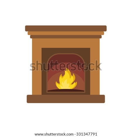 Christmas fireplace.