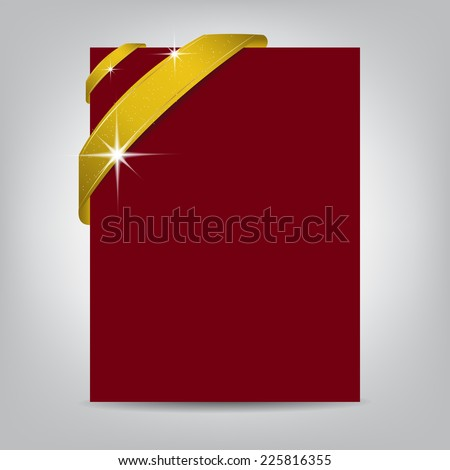 Christmas Flyer Template Blank Paper Banner Stock Vector