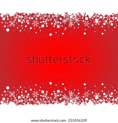 Christmas frame. Snowflake Winter Abstract Background.  - stock vector
