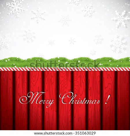 Christmas frame. Vector illustration - stock vector