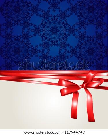 Christmas gift background - stock vector