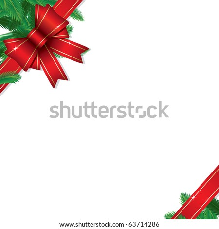 Christmas gift border (also available jpeg version of this image) - stock vector