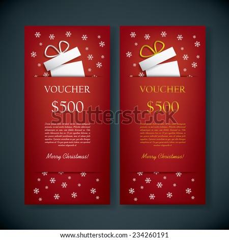 Christmas Voucher Images RoyaltyFree Images Vectors – Christmas Voucher Template