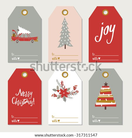 Christmas gift tags stock vector 317311547 shutterstock christmas gift tags negle Image collections