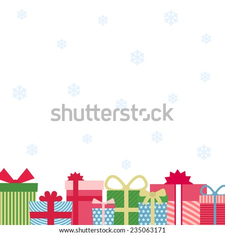Christmas gifts background - stock vector