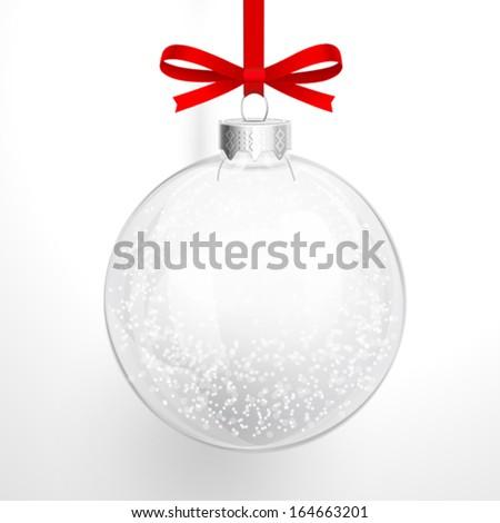 Christmas glass ball - stock vector