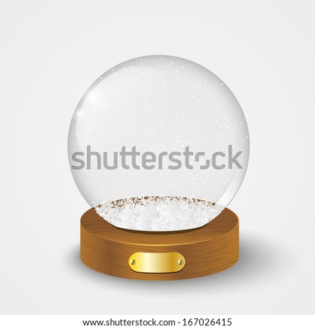 Christmas glass ball with snow