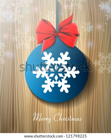 Christmas globe background eps10 - stock vector