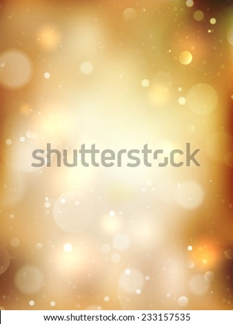 Christmas Golden Holiday Abstract Glitter Defocused Background. EPS 10 vector file included - stock vector