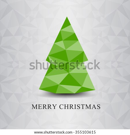 Christmas green tree vector icon,vector illustration,tree vector,polygon vector,icon design,web icon, Merry Christmas,polygon background,green tree