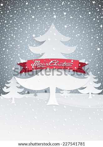 Christmas Greeting Card and Background  - stock vector