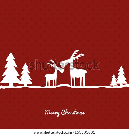 Christmas greeting card background - stock vector