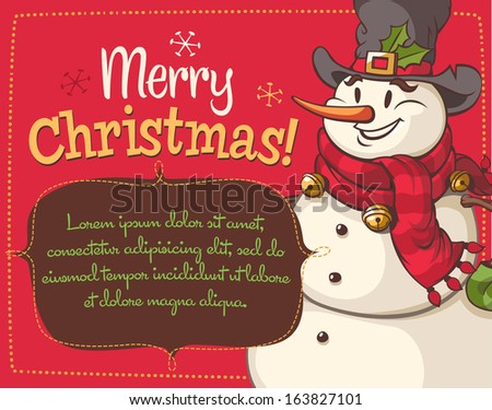 Christmas greeting card \ background. Vector illustration. - stock vector