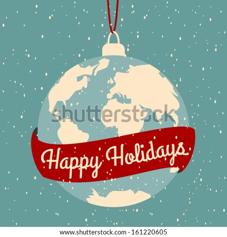 Christmas greeting card design. - stock vector