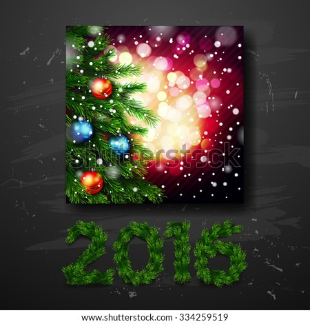 Christmas greeting card . Happy new year. Xmas vector background  - stock vector