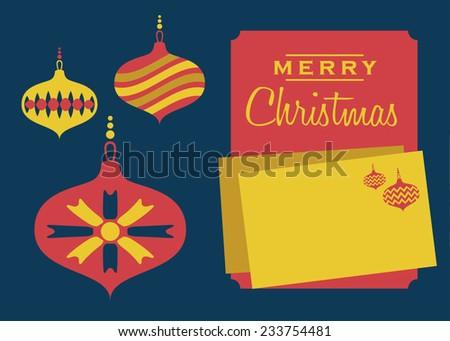 Christmas Greeting Card Template - stock vector